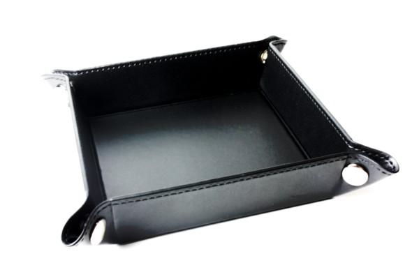 Würfelbrett faltbar, Würfellschale in schwarz 1