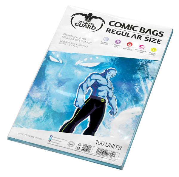 Ultimate Guard: Comic Bags Regular Size, (100 Comic Bags)