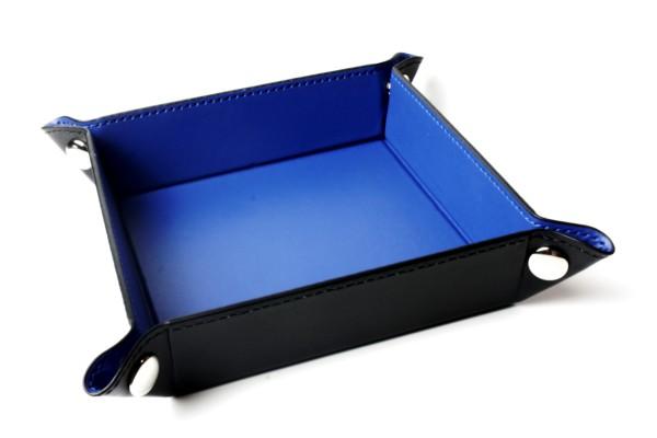 Würfelbrett faltbar, Würfellschale in dunkelblau 1