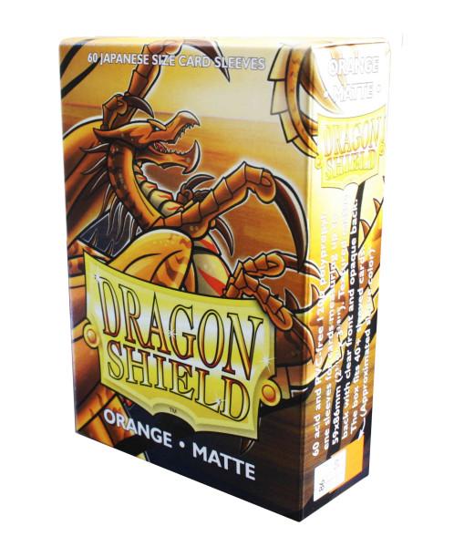 Dragon Shield Small Sleeves - Japanese Orange Matte (60 Sleeves)