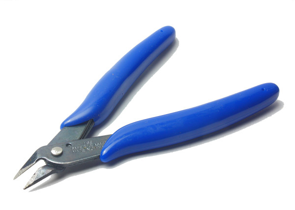 Seitenschneider, Drahtschneider (blauer Griff)
