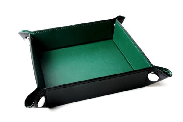 Würfelbrett faltbar, Würfellschale in dunkelgrün 1